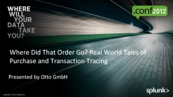 Where Did That Order Go? - Real World Tales of Purchase and Transaction Tracing